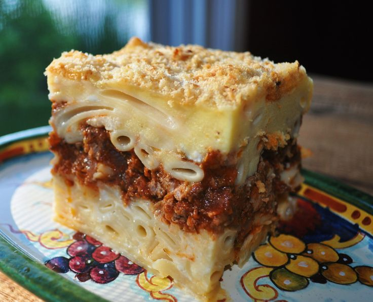 Greek food pastitsio  One day I need to try and make this. But it's definitely a process.