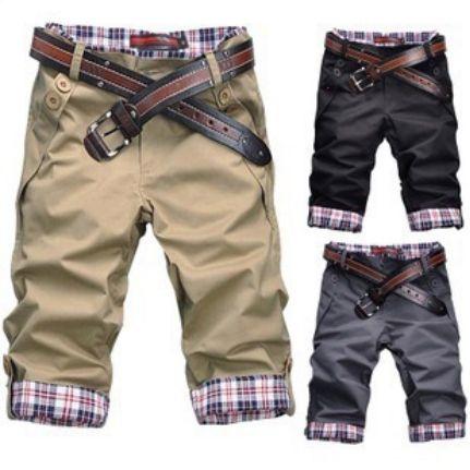 2014 New Casual Men Shorts Plaid Pocket Men's Short Pants Cotton Half Trousers For Man XXXL $14.59