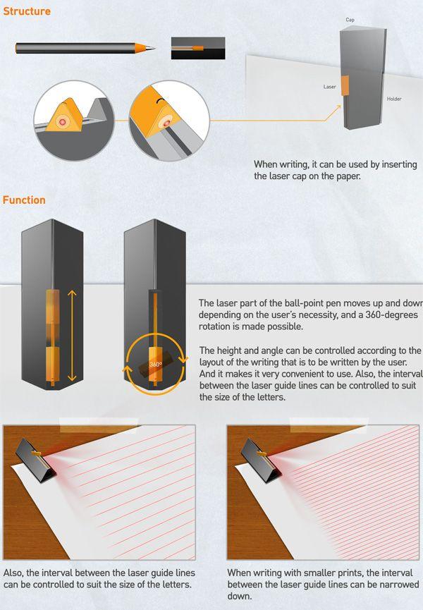 Laser lines on paper.