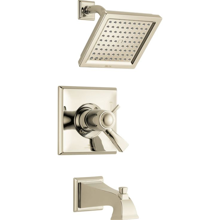 Delta Dryden Modern Polished Nickel Finish TempAssure 17T Tub and Shower Combination Faucet with Dual Temperature and Pressure Control INCLUDES Rough-in Valve D1102V