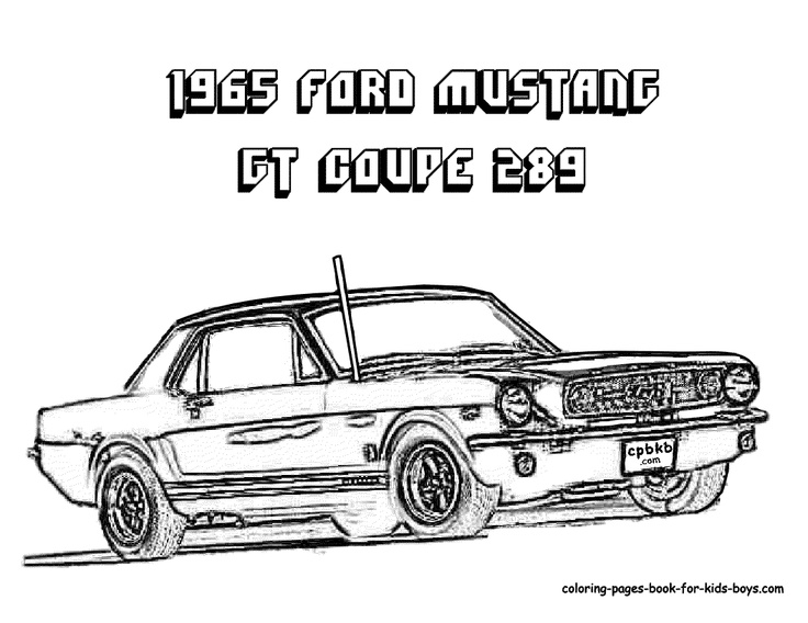 old ford mustangs coloring pages - photo#21