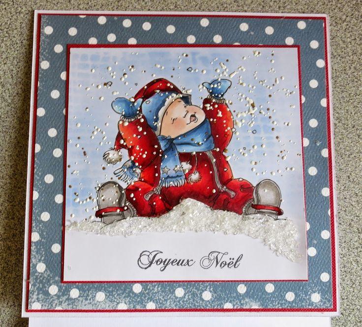 Carte de Noel Kai in snow