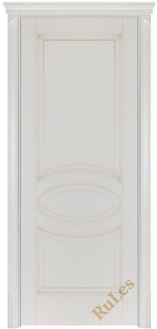 """Межкомнатная дверь """"Барселона"""" в отделке """"прованс бежевый. """"#двери #межкомнатные #белые #рулес #русский_лес"""
