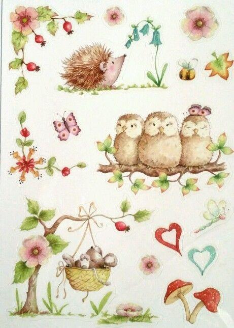 Adorable Animals Glitter Sticker Sheet