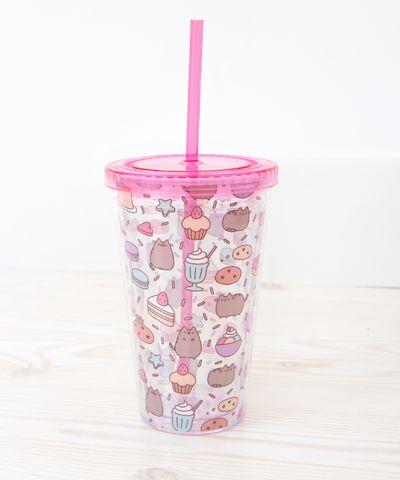 Pusheen sweets plastic tumbler