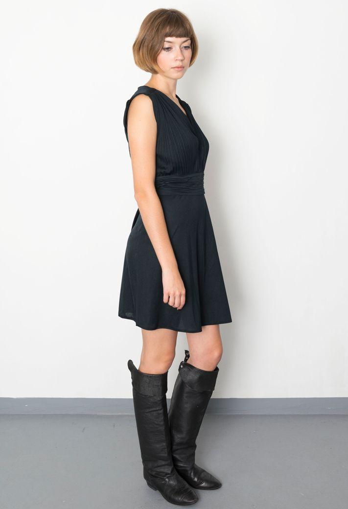 vintage/70's dress/80's ankle boots/aevintagestore