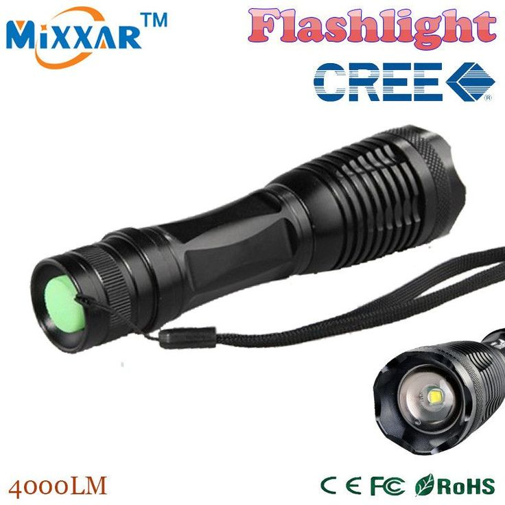 ZK5 Led flashlight 4000 lumens XML-t6 led Torch Zoomable LED Flashlight Torch light lampe torche