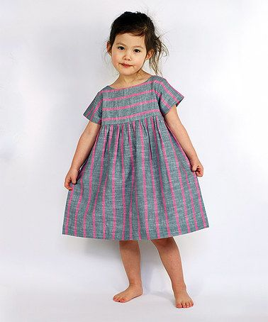Look what I found on #zulily! Pink Stripe Jenna Dress - Infant & Toddler #zulilyfinds