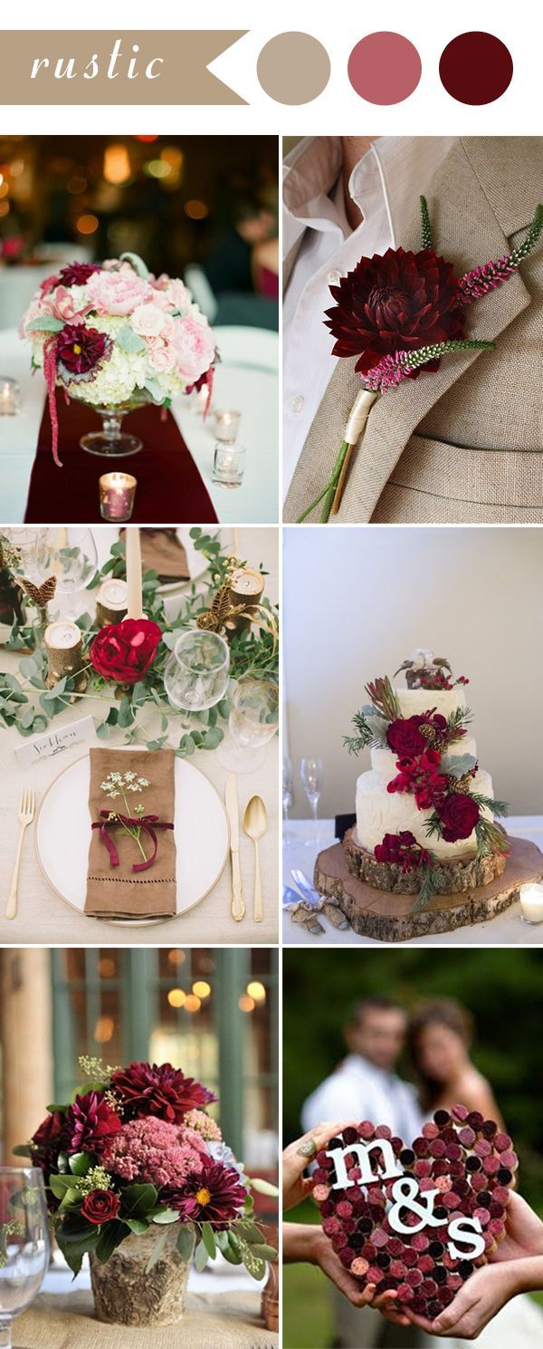 Best 25 Red Wedding Decorations Ideas On Pinterest Rose Chic Rustic Burgundy  Wedding Color Ideas For