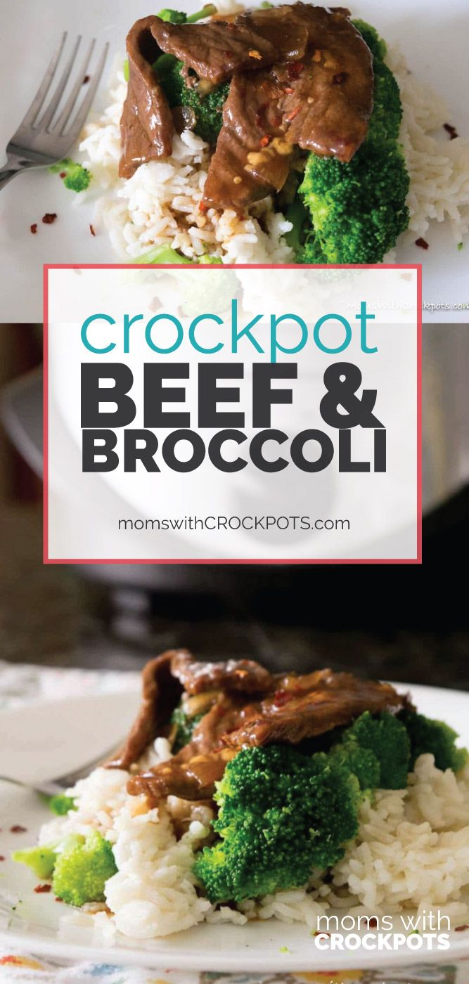 Simple to throw together, but oh so good. Everyone will want this Crockpot Beef and Broccoli Recipe! Better than take-out from your own slow cooker! via @MomsWCrockpots