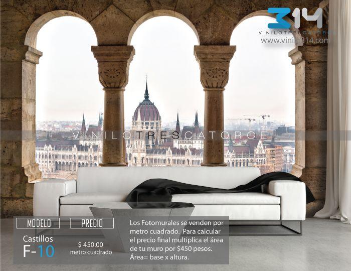 10-Fotomural-Castillo-Parlamento-Budapest-ventana-mural-tapiz. Decoración de muros y superficies lisas. vinilo314 Guadalajara Mexico. www.vinilo314.com