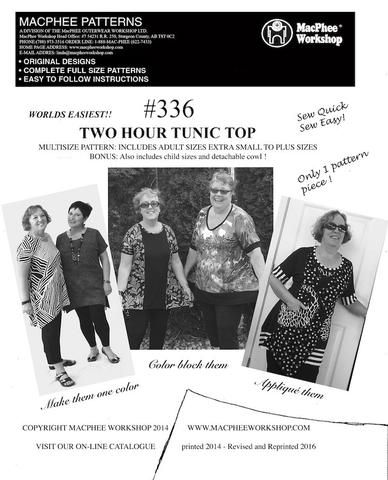 #336 TWO HOUR TUNIC TOP
