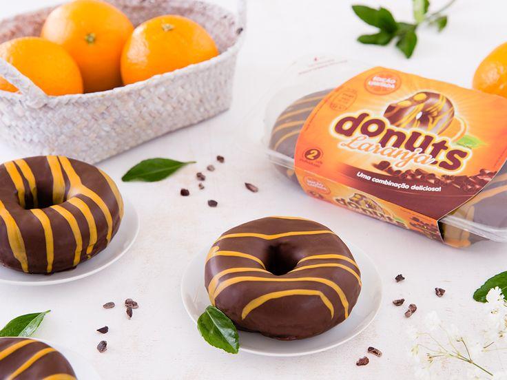 Donuts+laranja, o resultado só podia ser delicioso!