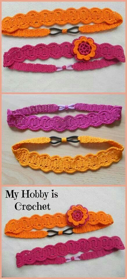 Lovely crochet hairbands