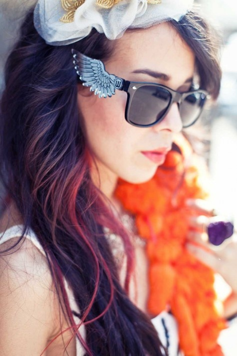 Wings Sunglasses, Mirrors Shades, Doubleu Eyewear, Cars Girls, Eyewear Wings, Angels Wings, Girls Style, Colors Glasses, Colors Hair