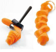 Plastikowe Krajalnice Warzywa Owoce Spiral Shred Process Device Typ Cutter Krajalnica Obieraczka Kuchnia Narzędzie Wave Shredder (Chiny (kontynentalne))