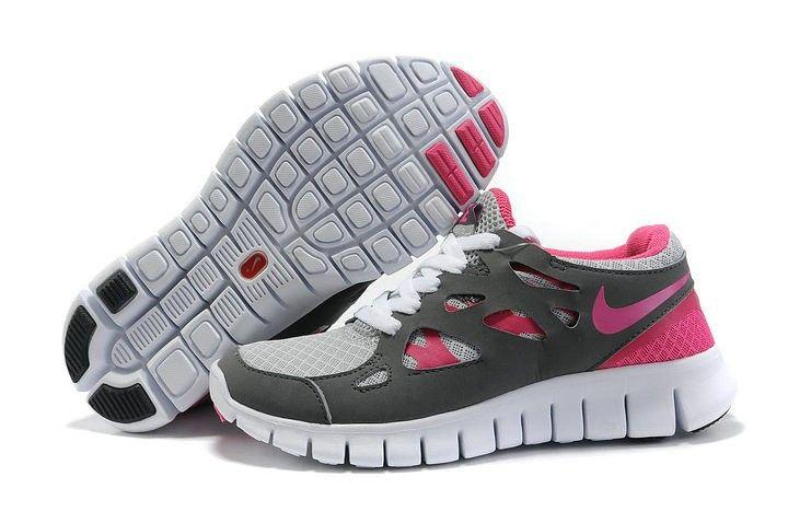 womens nike free 2.0 gray pink!$74.50USD