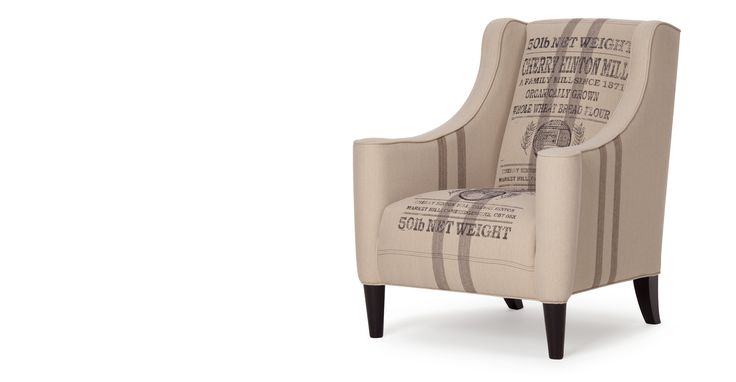 A distinctive nod to 1920s style, the Juke armchair in wheat sack hessian is perfect to add a vintage touch to your look.