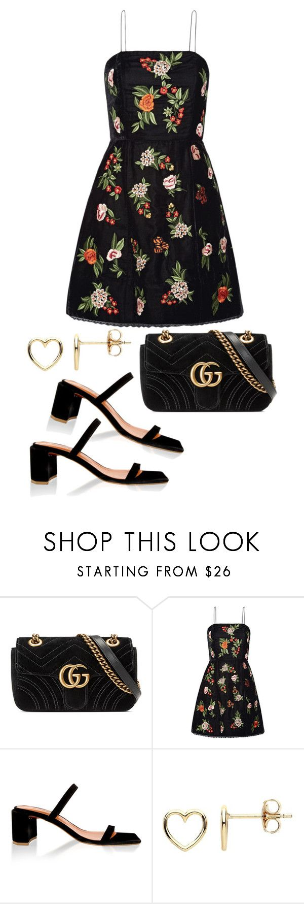 """Untitled #23123"" by florencia95 ❤ liked on Polyvore featuring Gucci, Alice + Olivia, by FAR and Estella Bartlett"