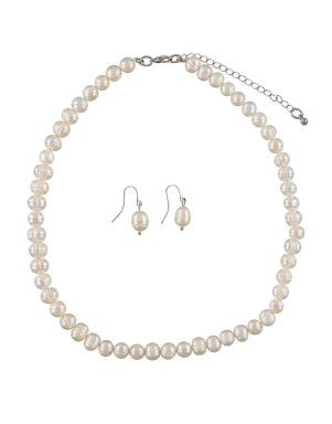 Pearl Necklace & Earring Set | Woolworths.co.za