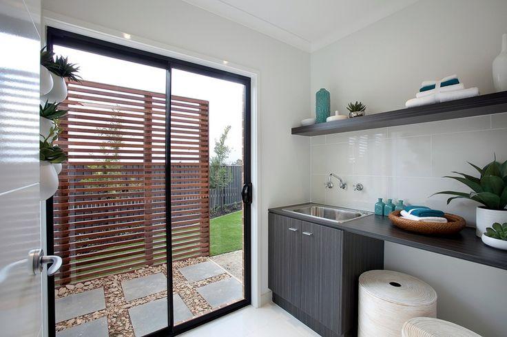 House Design: Montague - Porter Davis Homes (overhead shelf in laundry)