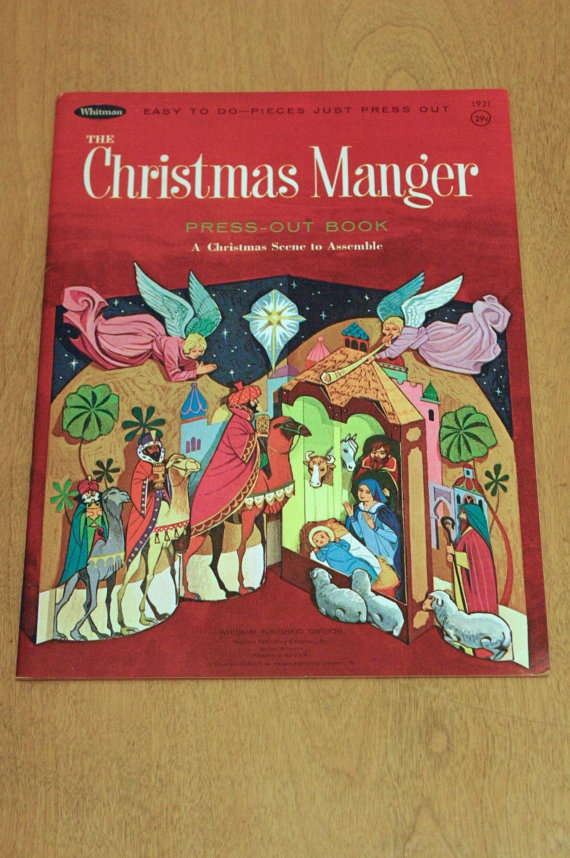 The Christmas Manger Press Out Books By Whitman TheModPasse 500
