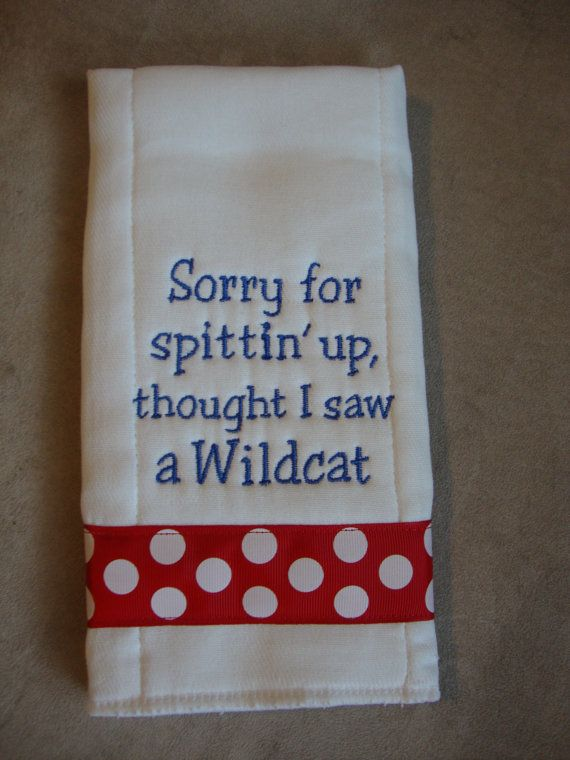 Great gift idea for a KU family expecting a little one! hehe:) Kansas Burp Cloth by CoughlinCrafts on Etsy, $12.00