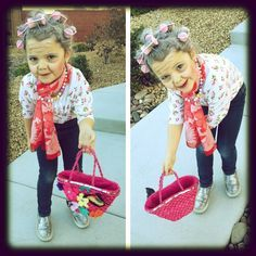 100 Year Old Lady Costume | Dressed up as a 100 year-old for her 100th day of school in ...