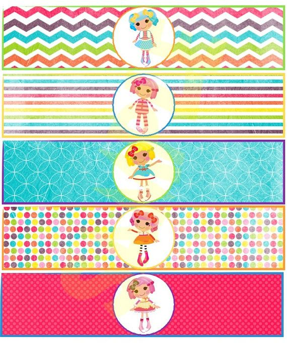 Lalaloopsy Water Bottle Labels by EveRyThiNgBDay on Etsy, $5.00
