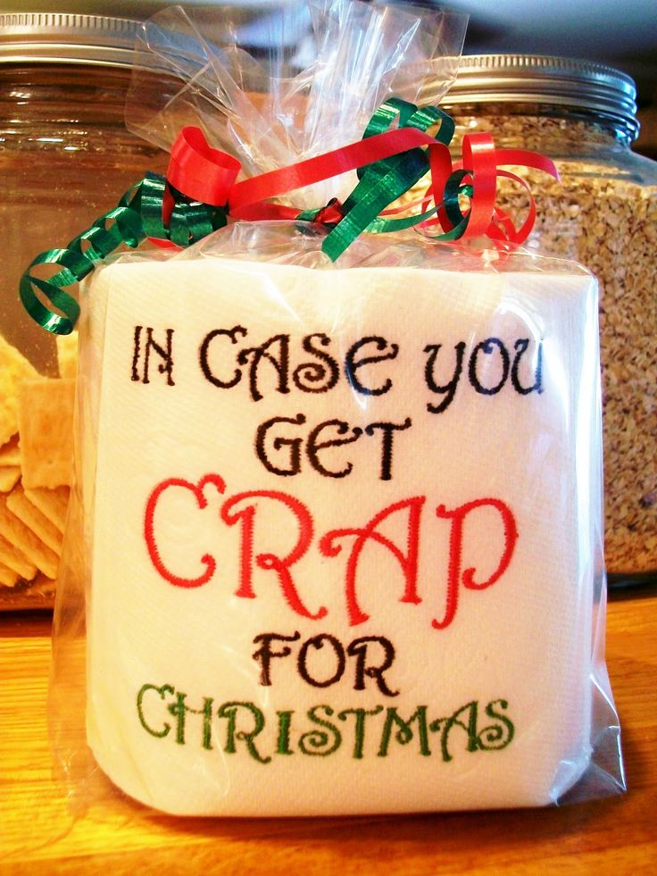 """#funny #gag """"In case you get crap for Christmas"""" - useful and funny, like it! FlyAwayHome: Friday's Favorites - Christmas Gag Gift"""