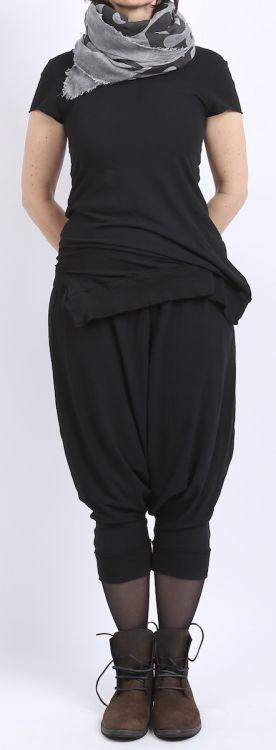 rundholz dip - Shirt Kurzarm Stretch black gum - Sommer 2016 - stilecht - mode für frauen mit format...