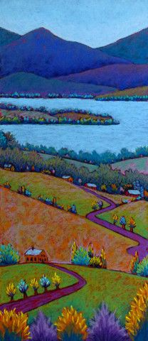 Farm, Fields and Lake- Daryl Storrs
