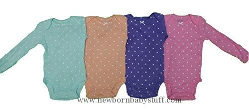 Baby Girl Clothes Carter's Baby Girls Multi-Pack Bodysuits 126g336, Assorted, 18 Months