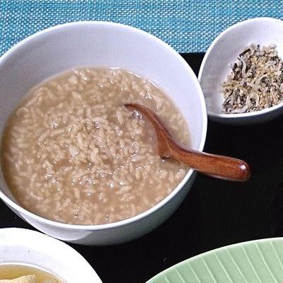 関西の懐かしいあっさり味☆残ったご飯で茶がゆ&塩昆布の即席ふりかけ ...