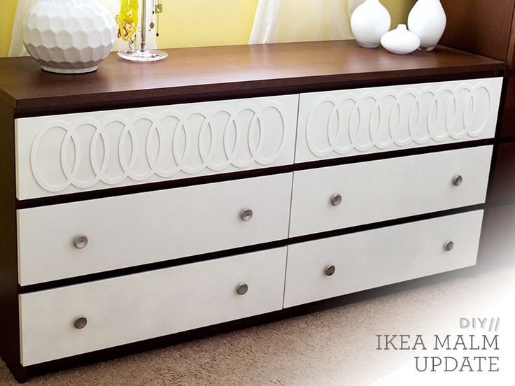 diy ikea malm mid century modern dresser modern dresser overlays and drawers. Black Bedroom Furniture Sets. Home Design Ideas