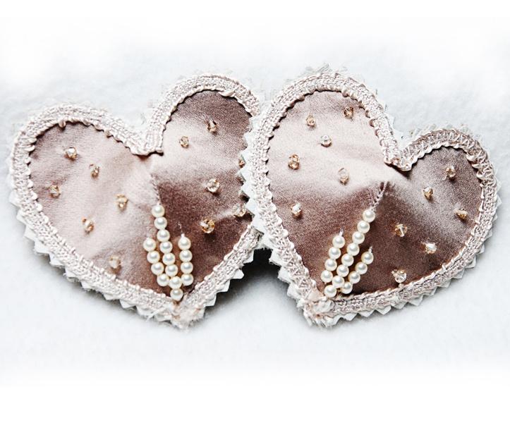 holloway noir smith :: latte sparkle pearl polka deco pasties