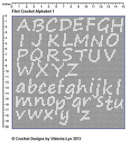 49 best crochet letters and numbers images on pinterest crochet filet crochet alphabet 1 pattern by viktoria lyn thecheapjerseys Images
