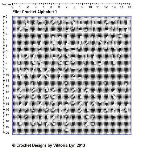 50 best Filet crochet alphabets images on Pinterest | Cross stitch ...