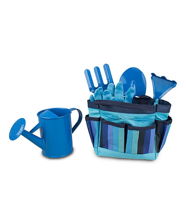 Look at this Six-Piece Blue Children's Gardening Set on #zulily today!
