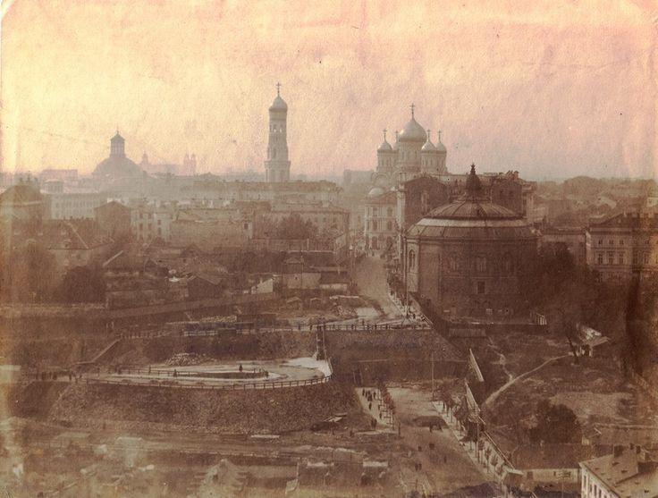 Karowa, Wiadukt Markiewicza w budowie, 1905 rok. Źródło: Archiwum Państwowe w Warszawie.