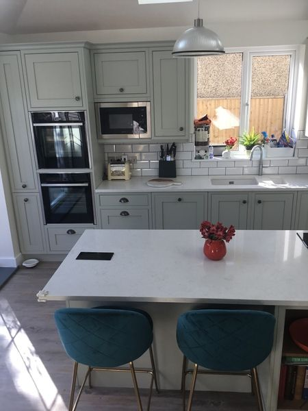Best Diy Kitchens Railings Farrow And Ball Helmsley Light Grey 400 x 300