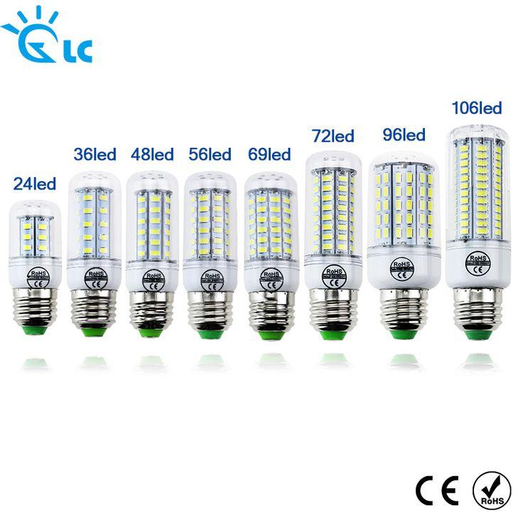 LED Bombilla de la lámpara E27 E14 Luz de la Vela Bombillas 220 V SMD 5730 Decoración Del hogar de La Lámpara para el Centro de Atención 24 36 48 56 69 106 LEDs