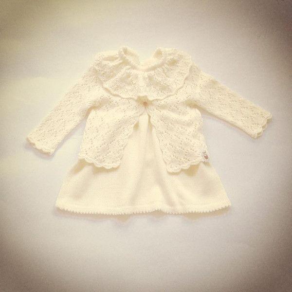 Taufbekleidung - Outfit 2 Teile: Kleid und Jacke,Taufe - ein Designerstück von MarumaKids bei DaWanda