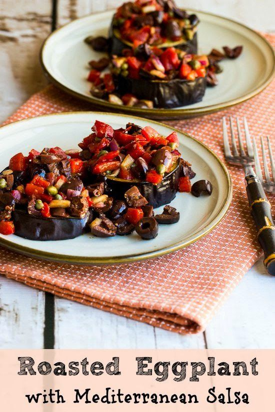 61 best meatless menu eggplant images on pinterest cooking roasted eggplant slices with mediterranean salsa forumfinder Choice Image