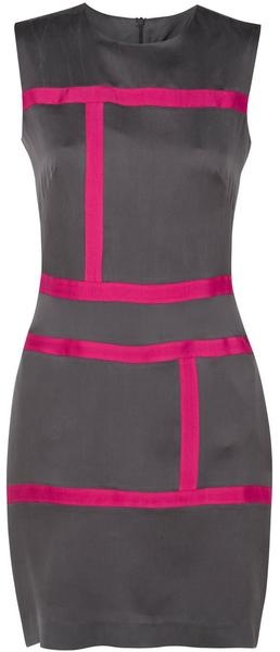 Loving Grey with Pink and Yellow accents! This dress is too cute and very functional.