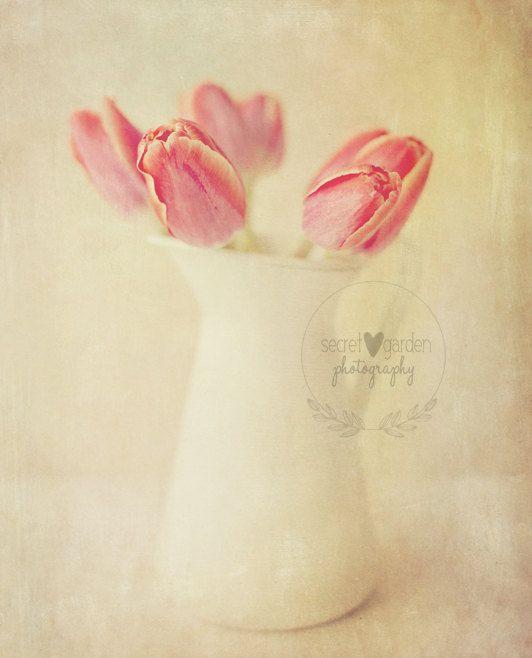 tulip flower photo print  whimsical fine art by secretgardentwo