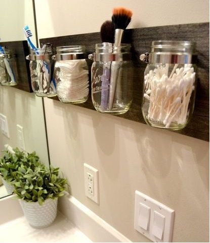 Hand Crafted Mason Jar Organizer by BuGaBeArCrAfTS on Etsy, $34.99