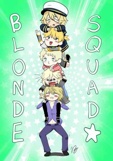 BLONDIE SQUAD \(^o^)/  Vocaloids: Oliver Len Yuu Yohio Leon
