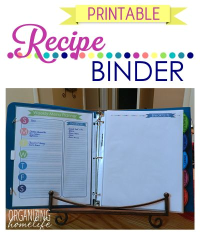 Love this printable and recipe binder!!