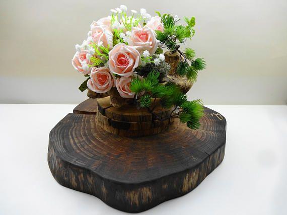 Tree Stump Cake Base Rustic Cake Stand Wood Cake Stand